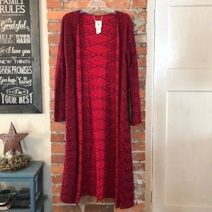 Red Reversible Billabong Duster Cardigan